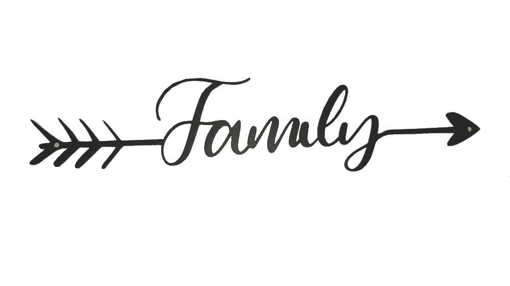 Steel family Sign