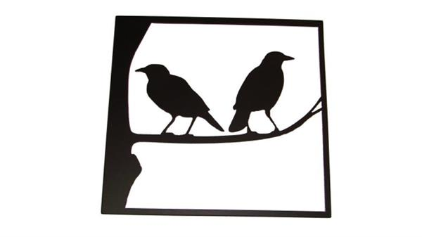 Crows cut in steel