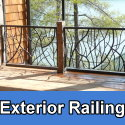 Custom exterior steel or iron railings